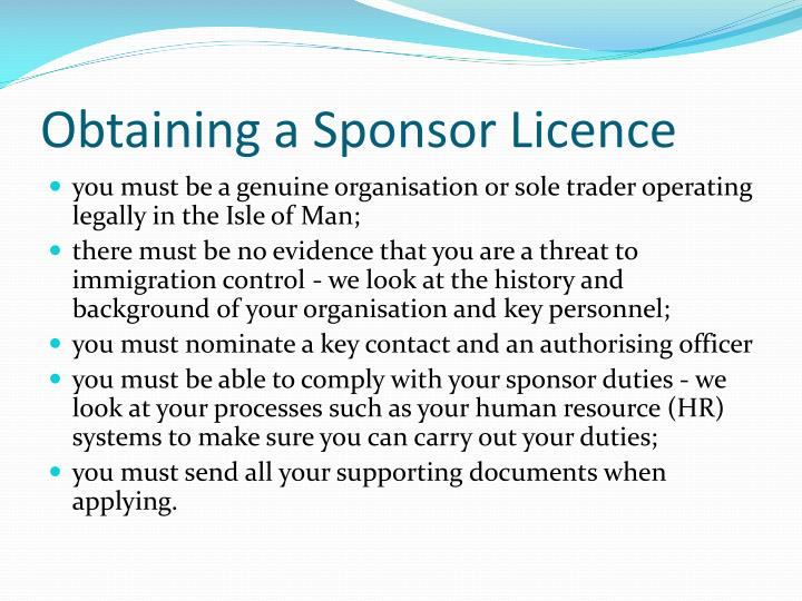 Obtaining a Sponsor Licence