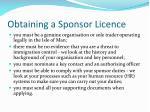 obtaining a sponsor licence1