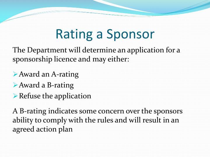 Rating a Sponsor