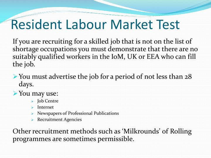 Resident Labour Market Test
