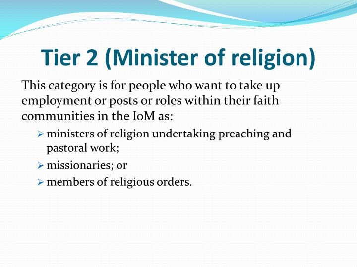Tier 2 (Minister of religion)