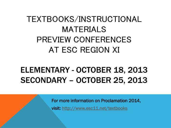 Textbooks/Instructional Materials