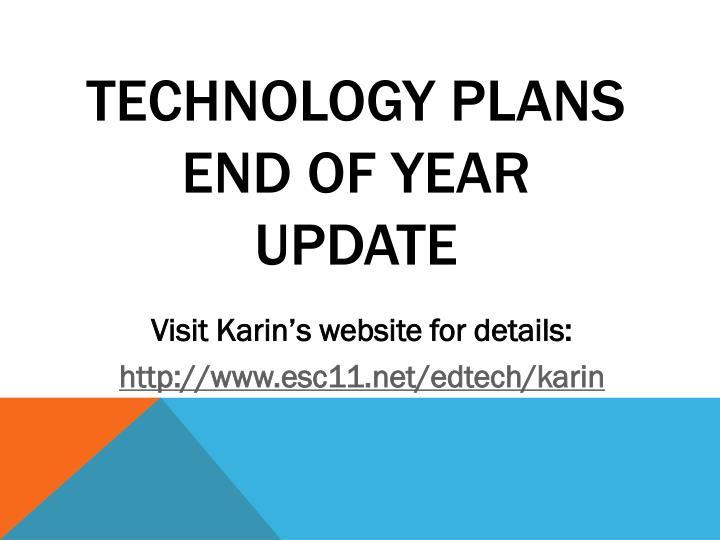 Technology Plans