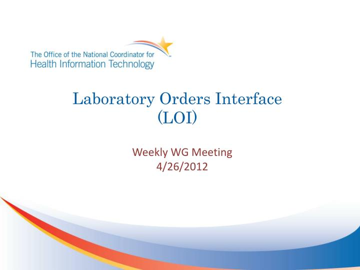 laboratory orders interface loi