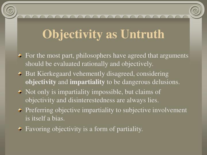 Objectivity as Untruth