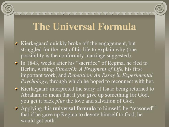 The Universal Formula