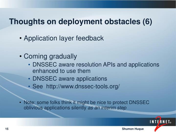 Thoughts on deployment obstacles (6)