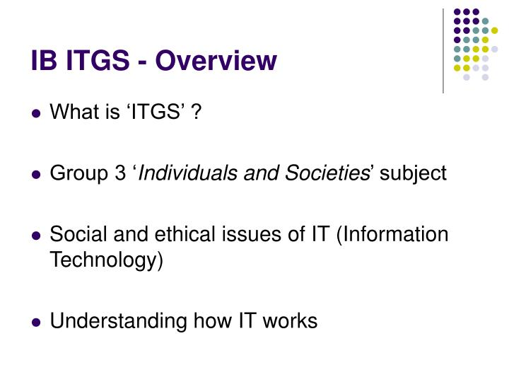 Ib itgs overview