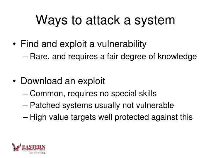 Ways to attack a system