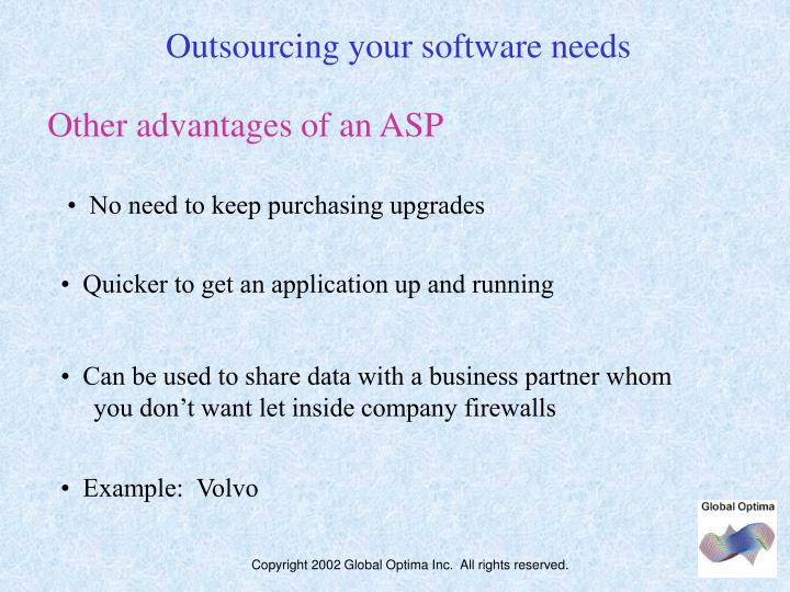 Outsourcing your software needs