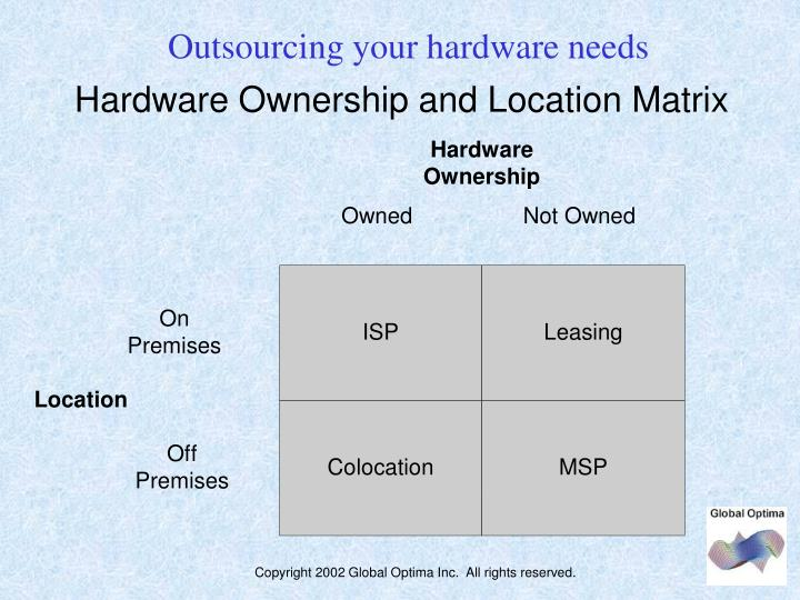 Outsourcing your hardware needs