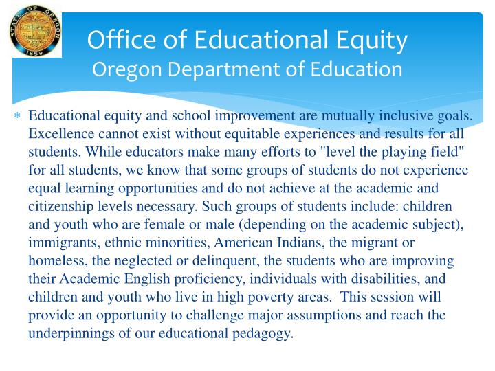 Office of Educational Equity