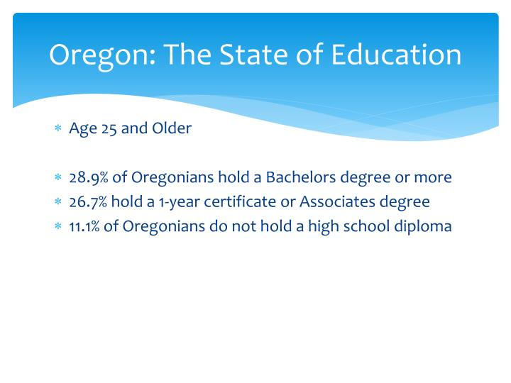 Oregon: The State of Education