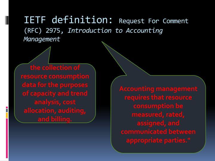 IETF definition