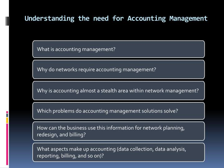 Understanding the need for Accounting Management