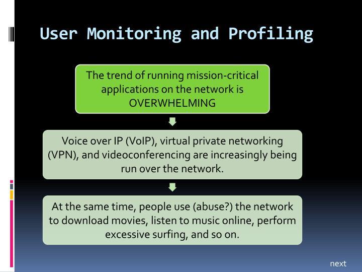 User Monitoring and Profiling