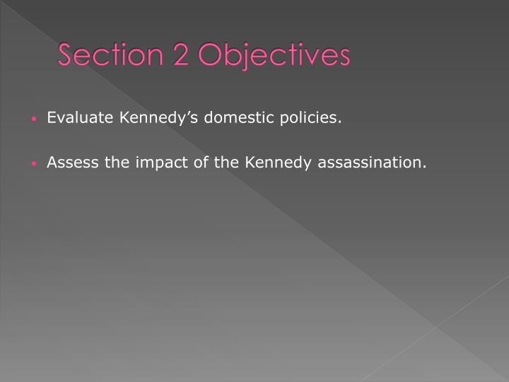 Section 2 Objectives