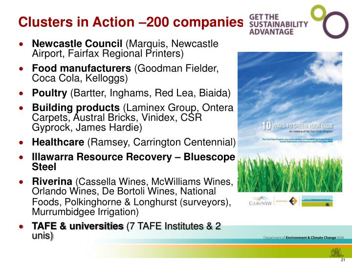 Clusters in Action –200 companies