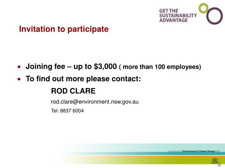 Invitation to participate