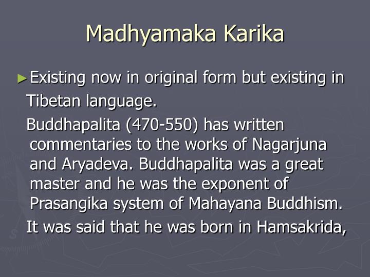 Madhyamaka Karika