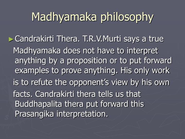 Madhyamaka philosophy
