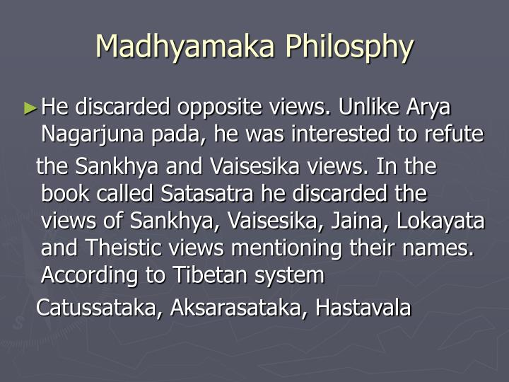 Madhyamaka Philosphy
