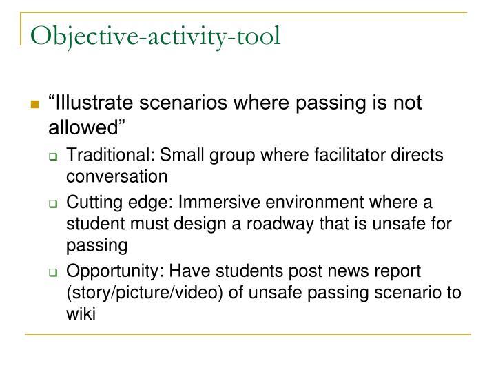 Objective-activity-tool
