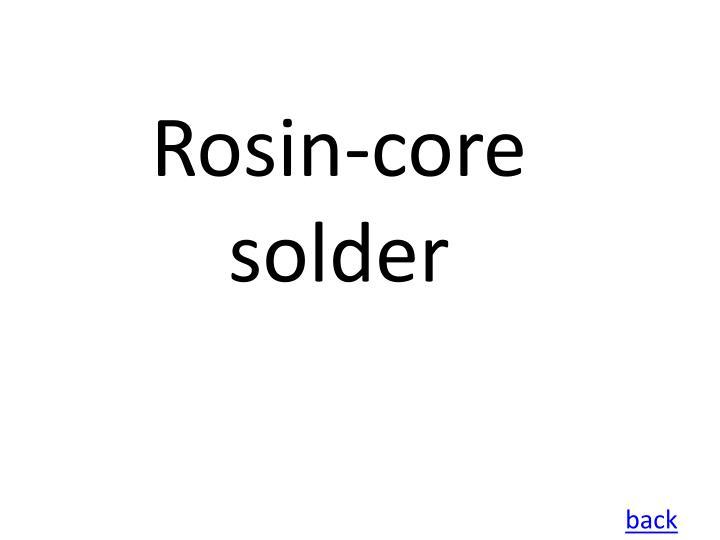 Rosin-core solder