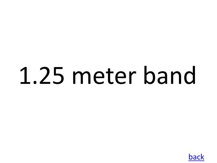 1.25 meter band