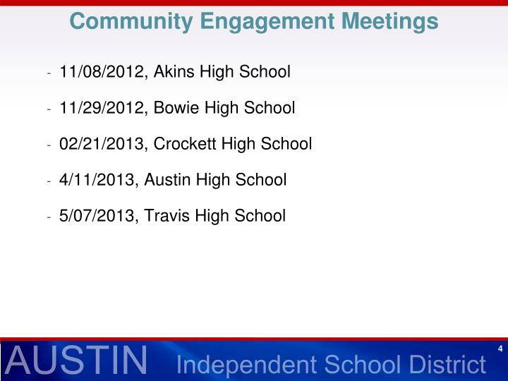 Community Engagement Meetings