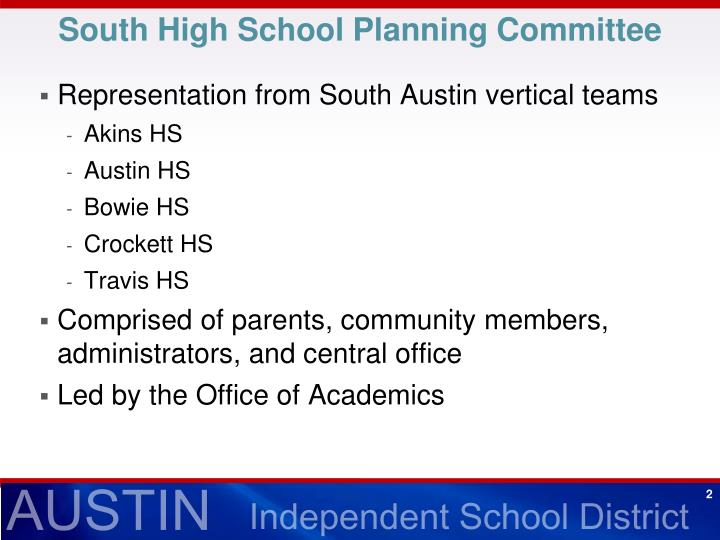 South High School Planning Committee