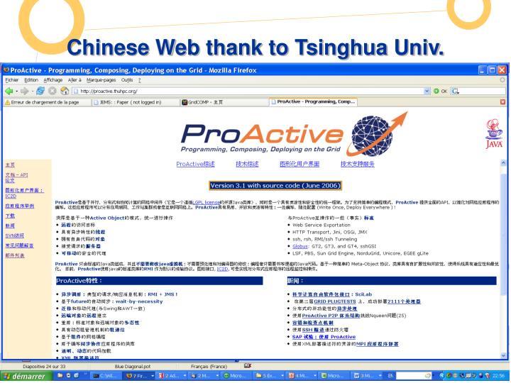 Chinese Web thank to Tsinghua Univ.