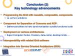 conclusion 2 key technology advancements
