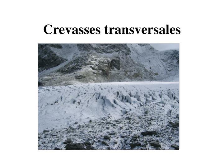 Crevasses transversales