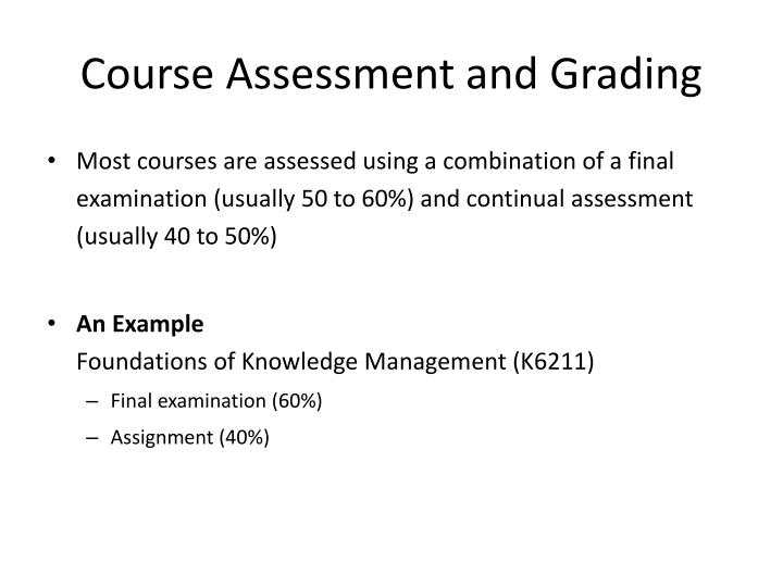 Course Assessment and Grading