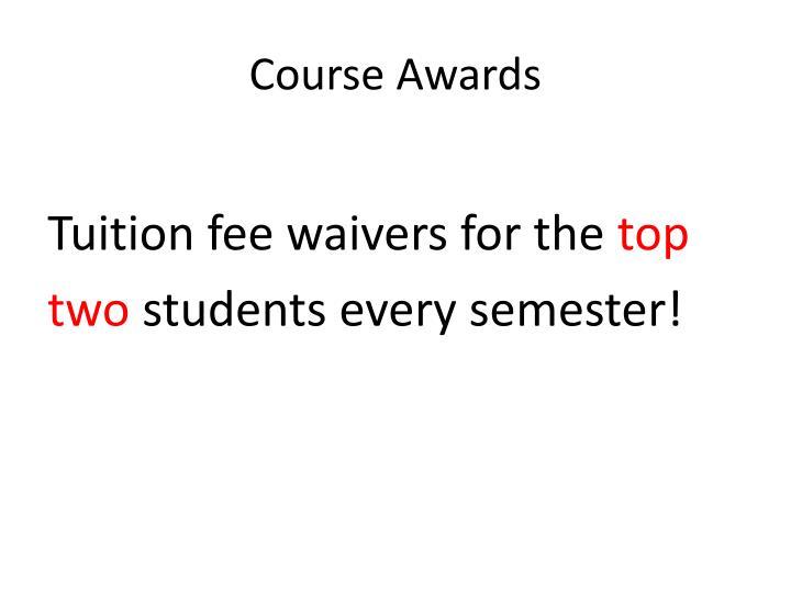 Course Awards