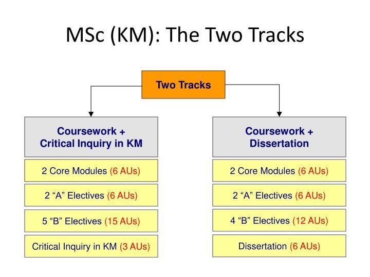 MSc (KM): The Two Tracks