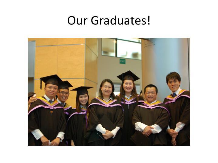Our Graduates!