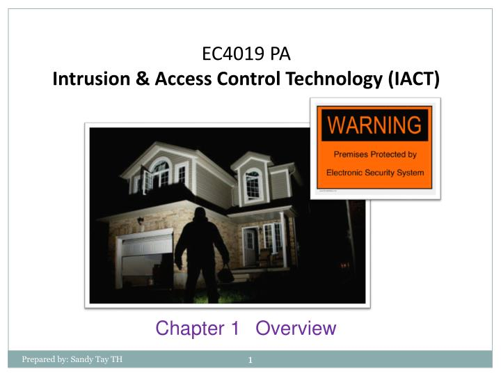 ec4019 pa intrusion access control technology iact