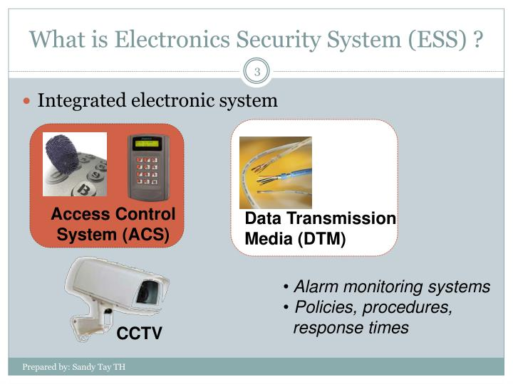 What is electronics security system ess