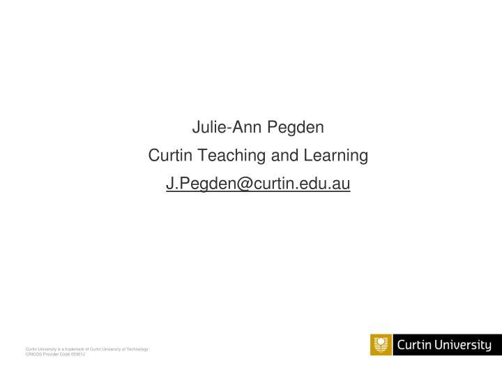 Julie-Ann Pegden