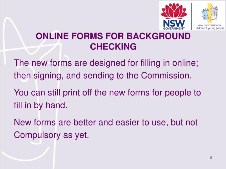 The new forms are designed for filling in online;