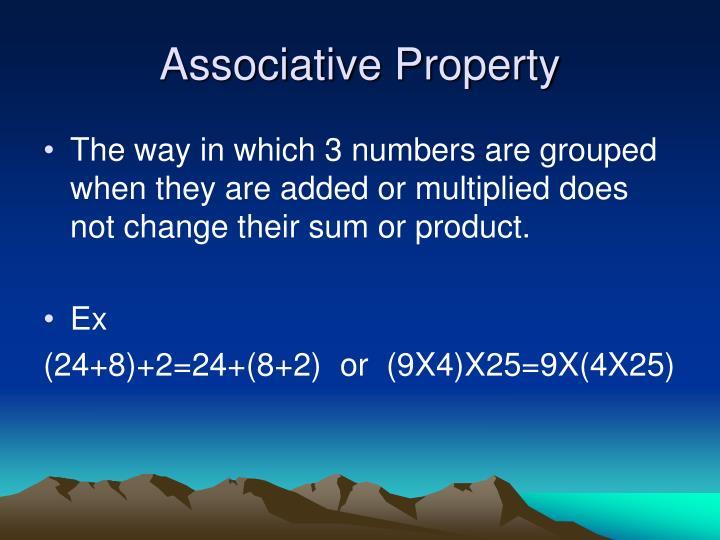 Associative Property