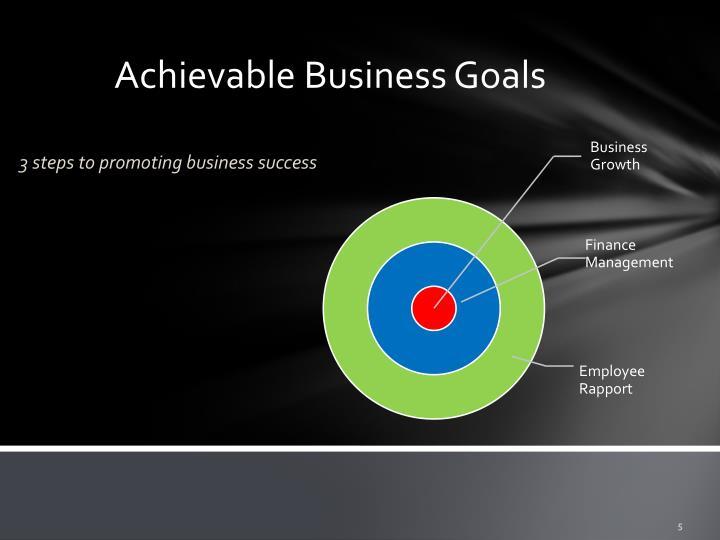 Achievable Business Goals