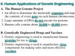 ii human applications of genetic engineering