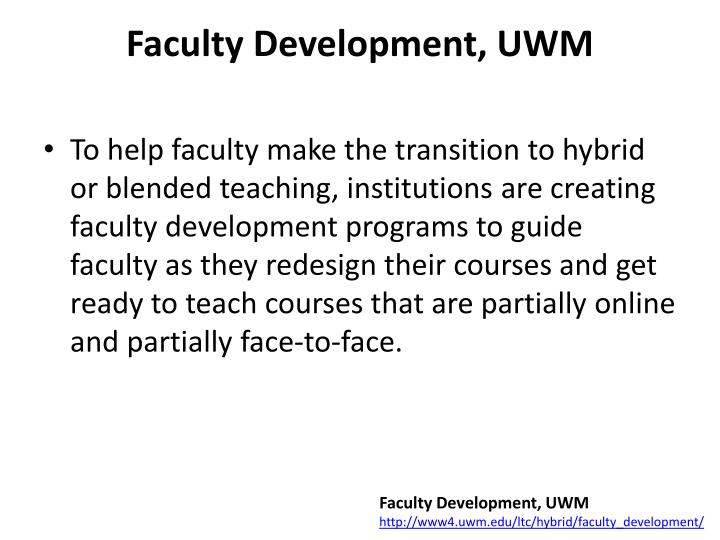 Faculty Development, UWM