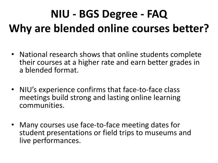NIU - BGS Degree - FAQ