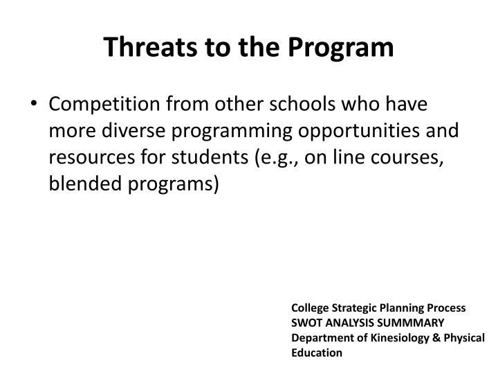 Threats to the Program