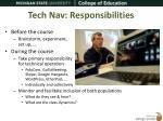 tech nav responsibilities