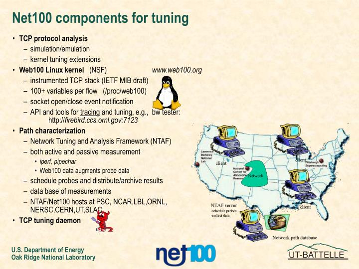 Net100 components for tuning